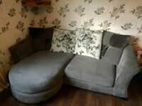 Beautiful Dfs grey butterfly sofa