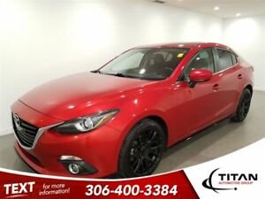 2014 Mazda MAZDA3 GT|Red|Cam|Leather|Sunroof|Nav|Heated Seats