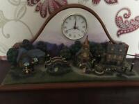 Mantelpiece Clock with miniature village