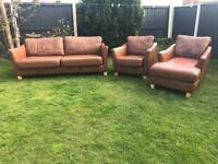 Designer contemporary 3 piece sofa suite. Sofa chaise & armchair can deliver