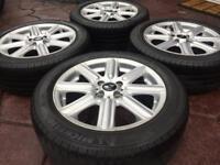 "Genuine 16"" BMW Mini Cooper Roadster Rib Spoke JCW Alloy wheel & Michelin tyres 4-5mm"