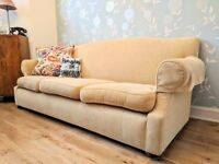 Three seater elegant sofa and armchair in good condition