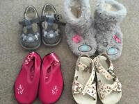 Size 6 Toddler Shoes/ sandals/ slippers