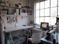 Large, Bright studio for rent in Dalston Heights studios