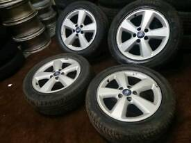"Genuine OEM Ford 16"" 5x108 alloy wheels + four tyres connect focus volvo"