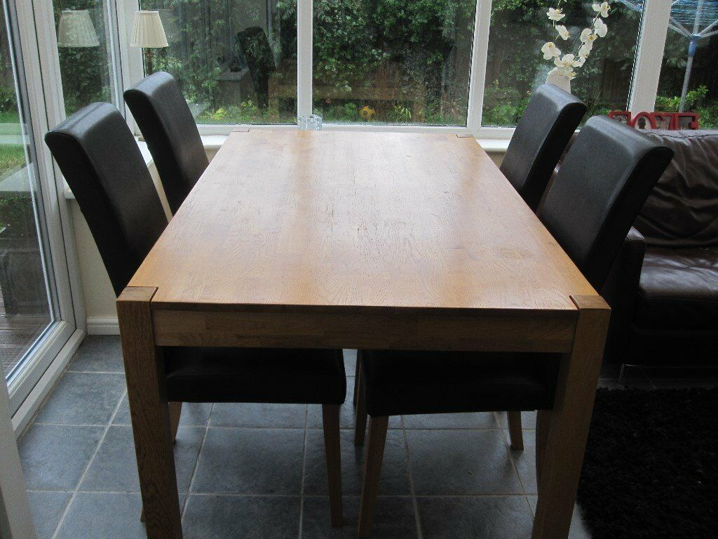 Oak Table And Chairs Rotherham