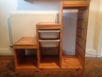 IKEA Trofast style solid wood storage unit for toys or clothes, very good condition.