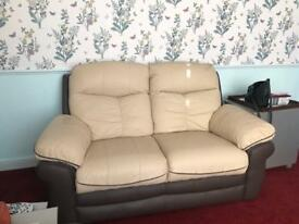 Leather sofa, immaculate condition