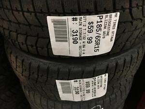 185/65/15 Bridgestone Blizzak WS70 *Winter Tires*