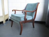 VINTAGE MAHOGANY FRAMED ARMCHAIR FREE DELIVERY