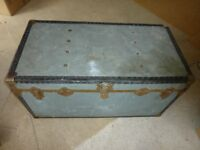 Vintage School/University/Cabin Metal Trunk