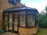 UPVC Victorian style Conservatory, Brown colour