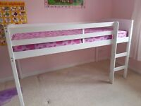 White wooden mid sleeper and accessories