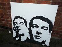 large Krays brothers canvas picture