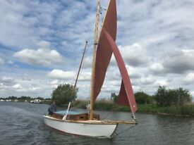 Sailing boat, with outboard, sails, and all equipment,