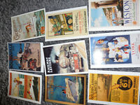 Collection of vintage poster postcards