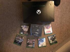 Xbox one x project Scorpio, spare 'elite' controller, 6 games
