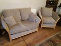 Two 2 seater sofas & matching armchair originaly from Websters in Brighouse ideal for a conservatory
