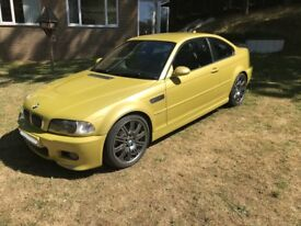 BMW M3 E46 2004 (04) in very rare Phoenix Yellow with SMG II Gearbox