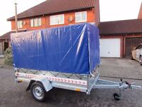 Car box trailer Camping trailer Black Length 2.43m Width 1.33m Height 1.50m