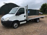 IVECO DAILY FLAT BED SCAFFOLD TRUCK 2007 ONLY 45000 MILES ONE OWNER 14 FOOT BODY