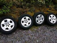 5x100 15 inch wheels alloys vw audi skoda seat