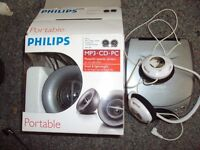 CD and Phillips speakers