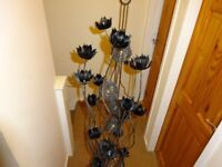 Black Flower Metal Floor Lamp - Black