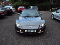 MAZDA RX-8 231 6 SPEED 2008 LOW MILEAGE F.S.H LONG MOT 2KEYS 2 TONE PARK AID TINTED WINDOWS XENONS