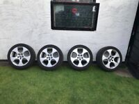 Genuine VW Golf GTi mk5 Monza 17 inch alloy wheels and tyres