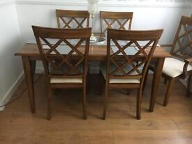 Table Chairs & Matching Cabinet