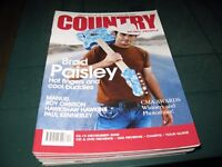 COUNTRY MUSIC PEOPLE MAGAZINE DECEMBER 2008 BRAD PAISLEY COVER