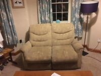 Two seater recliner sofas x2