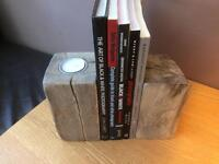 Driftwood Block Bookends