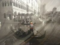 Venice Picture, Black and White with a splash of colour. New and in packaging.