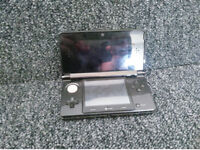 black 3ds with 3 games