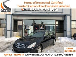 2010 Infiniti G37X Low Km|Clean history|Leather|AWD