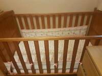 Cot bed and Fireguard for sale