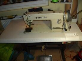 WALKING FOOT INDUSTRIAL TYPICAL SEWING MACHINE( Ideal for leather, upholstery,