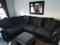 Corner sofa with footstool great condition