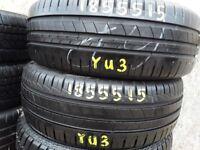 Part worn tyrez / 185/55/15 x singles -sets & pairs / brznded tyres / barking