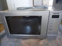 silver Panasonic Microwave Grill Oven immaculate condition model nn k627b bpq