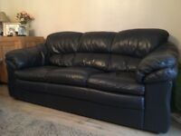 Quality Leather Navy Blue suite