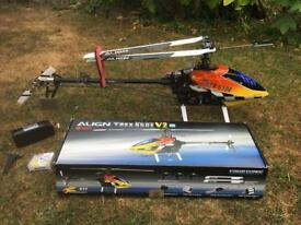 Align T-Rex 550E V2 super combo RC HELICOPTER excellent condition Never flown!