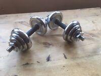 123goforit Adjustable York metal dumbbell set, good condition £30 o.n.o.