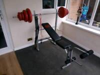 Weight bench and weights 41kg