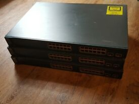 3 x Cisco 3560 - 48 PoE Ports - Very good condition - Latest firmware - Works as a charm!
