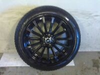 ALLOYS X 4 OF 19 INCH MULTISPOKE GENUINE DISCOVERY/RANGEROVER FULLY POWDERCOATED INA STUNNING BLACK