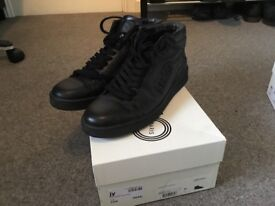 Black leather Kenzo high tops size 10
