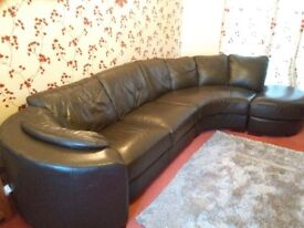 Leather corner sofa and armchair (excellent condition)